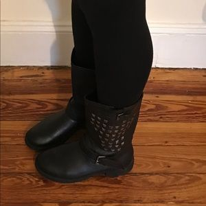Black woman's boots